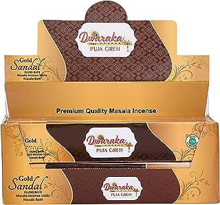 Dwaraka - Sandalwood Incense Sticks, 100 Sticks, All Natural, Chemical Free