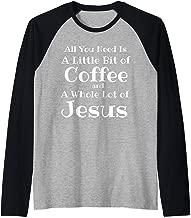 Jesus Lover Coffee Mom T-Shirt, Java Junkie Christian Raglan Baseball Tee