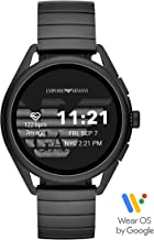 Emporio Armani Smartwatch 3- Powered with Wear OS by Google with Speaker, Heart Rate, GPS, NFC, and Smartphone Notifications