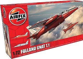 Airfix A02105 Folland Gnat T.1 72 Scale Plastic Model Kit (49Piece), Gray