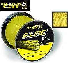 Black Cat S-Line - Hilo de Pescar (diámetro: 0,45 mm, Longitud: 400 m, Peso: 50 kg), Color Amarillo