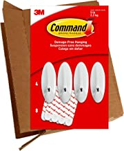 Command Large Wire Hooks, 4 Hooks, 8 Strips, Holds up to 5 lbs, GP069-4NA, Easy to Open Packaging, Organize Damage-Free