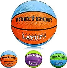 meteor Ballon de Basket Basketball Ext/érieur et Int/érieur Surface Rugueuse Asphalte Granuleuse Mixte Couleur Enfant Jeunesse Doux et Bouncy Taille 4 Id/éal pour Formation//Doux Basket-Ball Layup 4