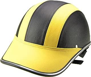 FidgetGear Lightweight Unisex Summer Cycling Helmet Baseball Cap for Motorcycle Bike Riding Yellow