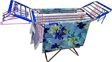 TNC;WORLD OF MODERN UTILITY PRODUCTS Stainless Steel Square/Bed Model Cloth Drying Stand