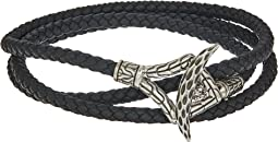 Legends Naga Triple Wrap Bracelet in Black Leather