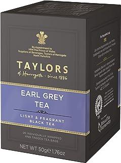 Taylors of Harrogate Bergamotte Schwarztee Earl Grey Light & Fragrant - 1 x 20 Teebeutel 50 Gramm