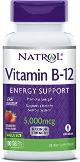 Sponsored Ad - Natrol Vitamin B12 Fast Dissolve Tablets, Promotes Energy, Supports a Healthy Nervous System, Maximum Stren...
