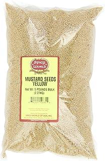 Spicy World Yellow Mustard Seeds Bulk, 5-Pounds