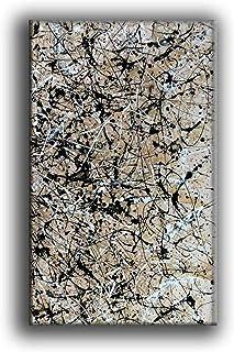Peinture À L'Huile Peinte À La Main Sur Toile,Peinture Abstraite Moderne Artwork 100% Peint À La Main Drip Art Turquoise B...