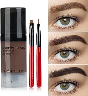 Waterproof Eyebrow Tint Gel Kit, Long Lasting Brow Color Gel Mascara for Eyebrow Makeup,Flake-proof,Smudge-proof, Dark Brown