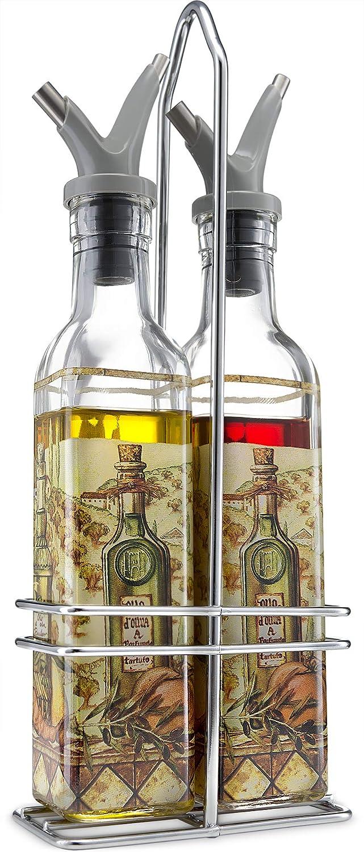 Gourmia GVD9990 Oil and Vinegar Dispenser Elegant Nippon regular agency Set - D Ranking TOP3 Square