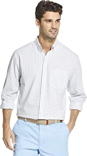 Men's Button Down Long Sleeve Stretch Performance Tattersal Shirt