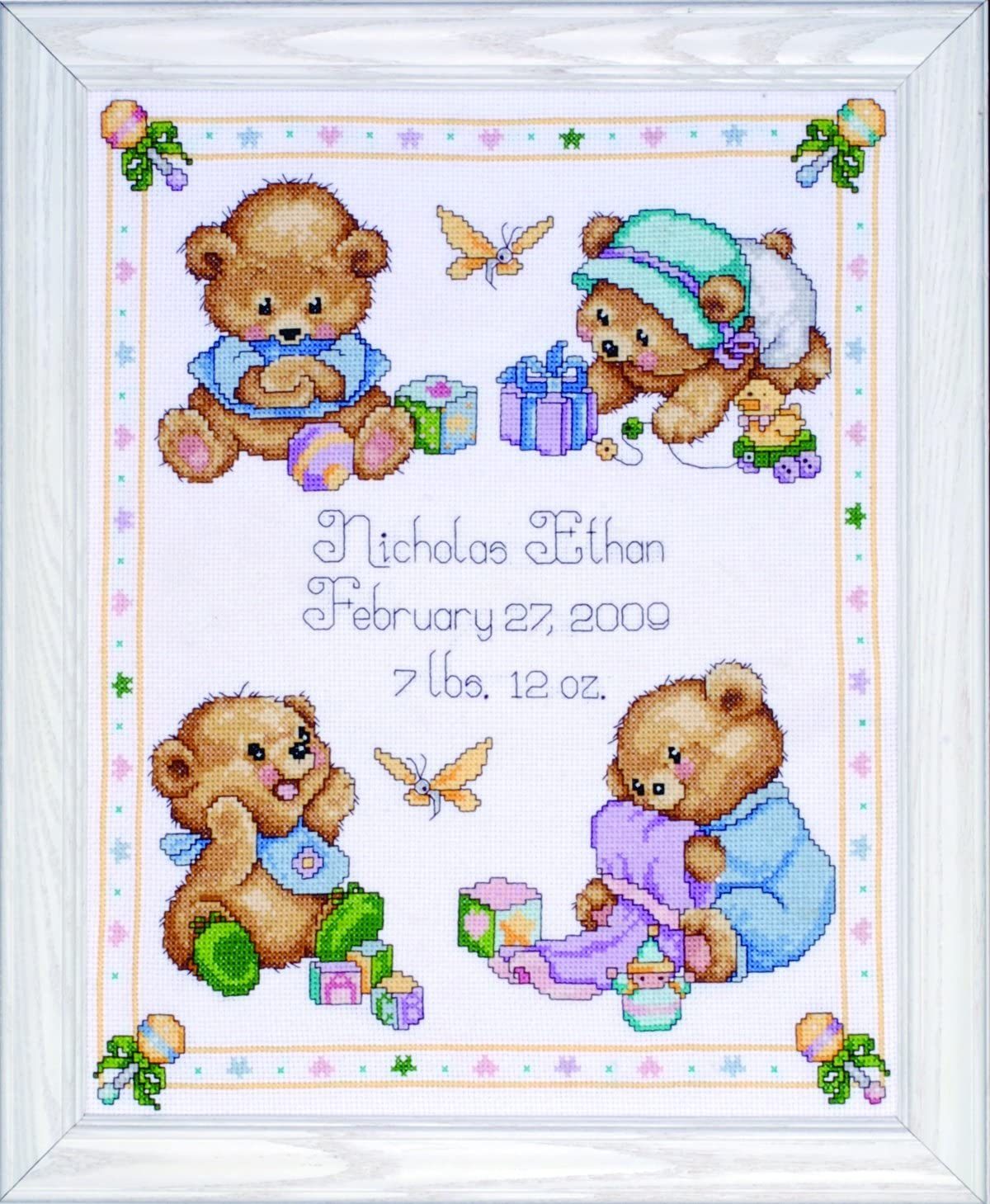 Tobin T21711 Baby Bears Birth Cross Nashville-Davidson Mall Stitch Record San Francisco Mall Kit Counted