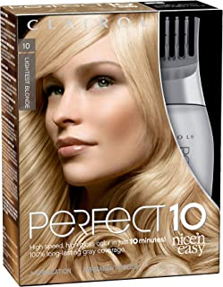 Clairol Nice'n Easy Perfect 10 Permanent Hair Color, 10 Lightest Blonde, Pack of 2