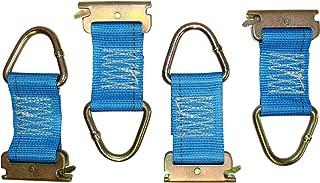 Silver-Zinc Coated Steel Connector 6-Pack 2in Wide Webbing Powertye Mfg E-Track D-Rings w//4in Webbing