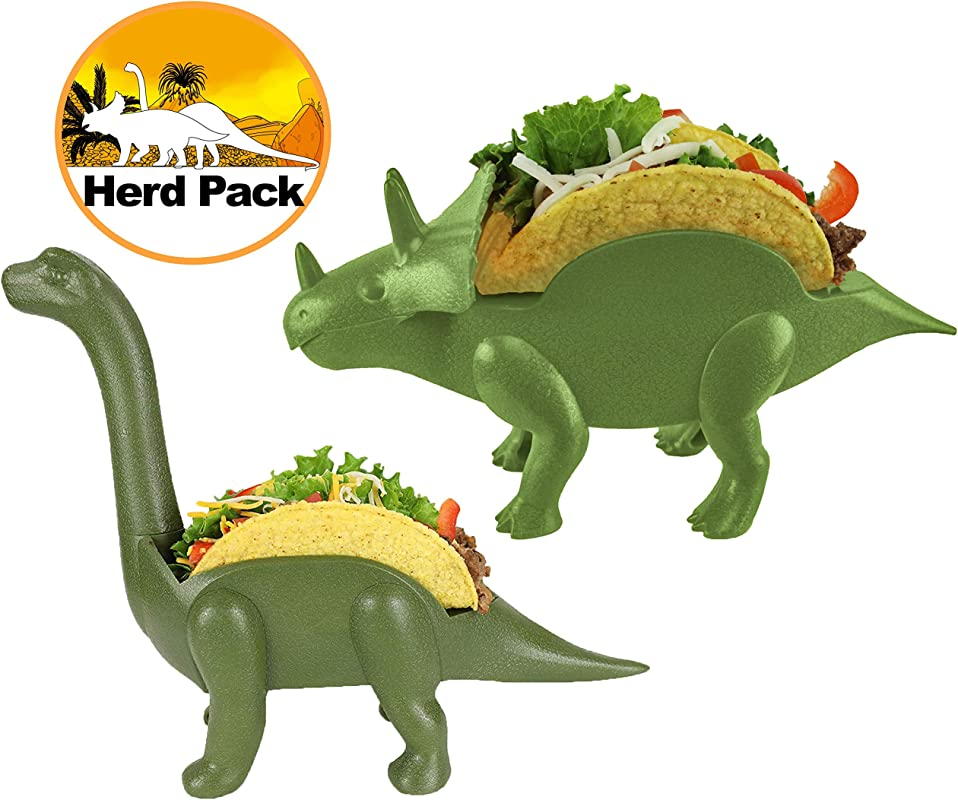 Herd Pack Grubkeepers By Penko Pack Of 2 Dinosaur Taco Holder Ultrasaurus And Triceratops Each Holds 2 Tacos 4 Tacos Birthdays Lunch Dinner For Adults And Kids Alike Taco Party