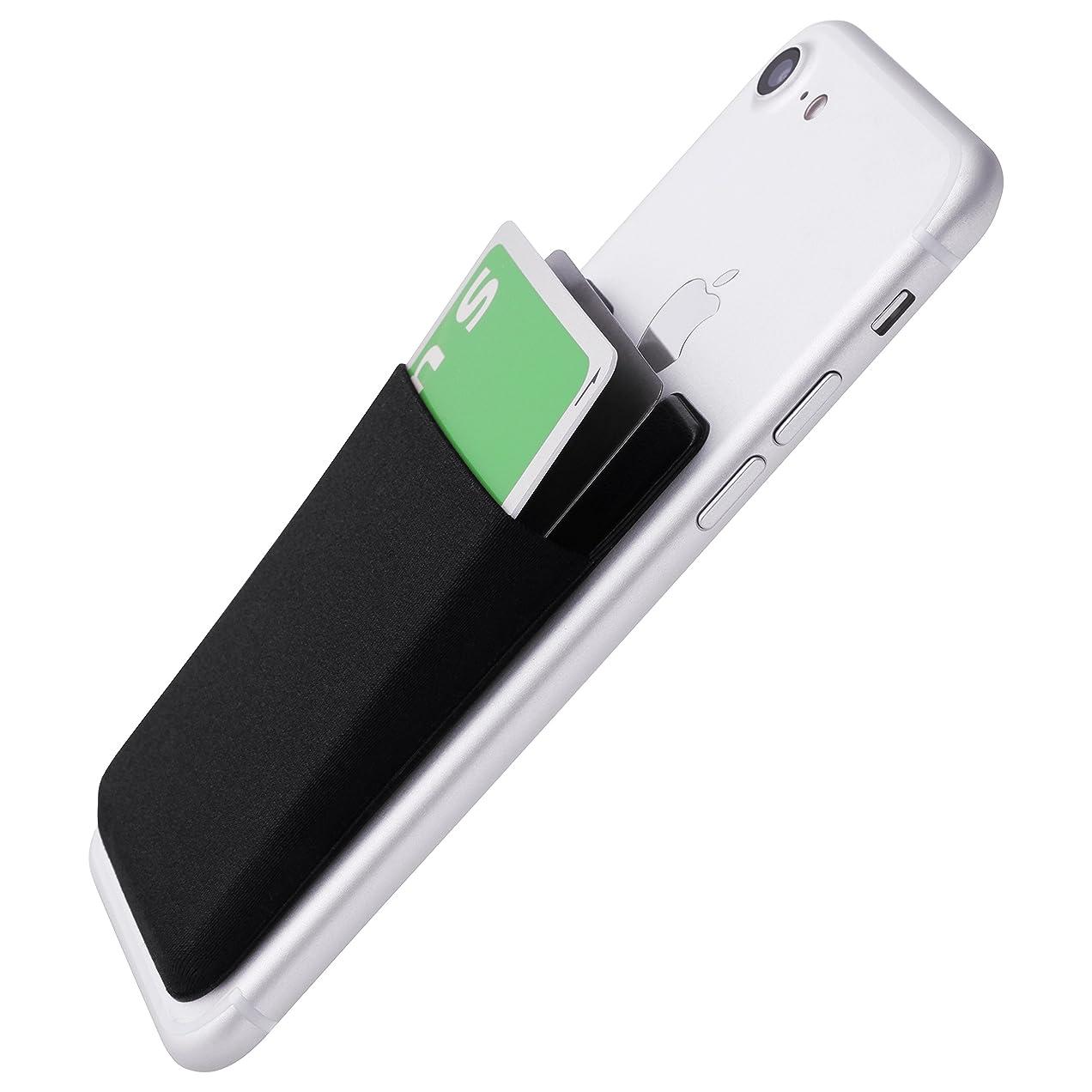 有彩色の粘性のスリップシューズAmazon限定 スマートフォン ポケット シンジポーチ Suica Pasmo Toica Manaca Icoca など 非接触ICカード を入れるなら必須のエラー防止シート付属 国内モデル 販売元が エラー解消まで サポート iPhone/Galaxy/Xperia などに Sinji Pouch Basic 3(ブラック)