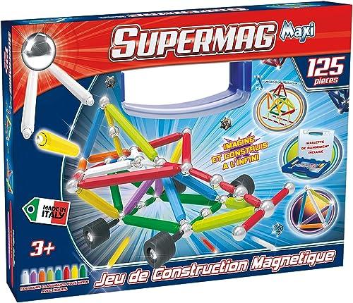 Supermag 950125 Spiel-BAU BTE Maxi Kofür, 125-teilig