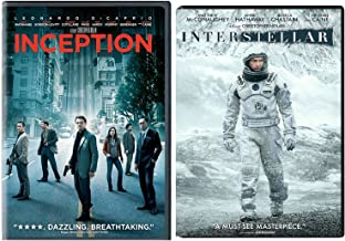 Inception & Interstellar DVD 2 Pack Christopher Nolan Movie Double Feature Set