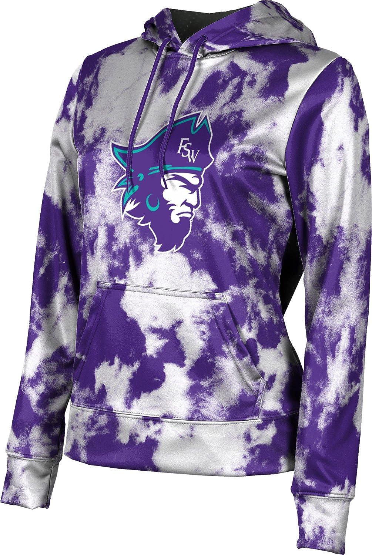 ProSphere Florida Southwestern State College Girls' Pullover Hoodie, School Spirit Sweatshirt (Grunge)