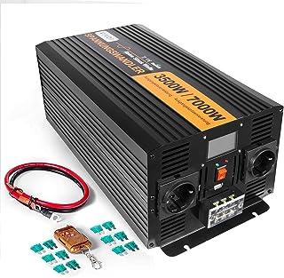 ZGYQGOO 3500/7000 Watts onduleur CC 12V en AC 230V Convertisseur Puissance à onsinusoïdale Pure avec écran contrôle à Dist...