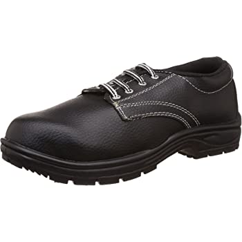Aktion Safety Synthetic Leather Shoes RA-101 - Size 7, Black