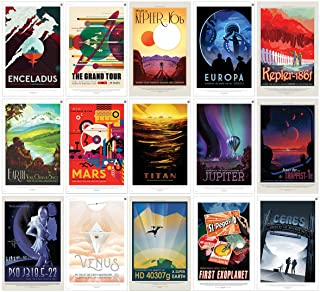 "PosterOffice NASA JPL Space Travel Posters (All 15 Posters) 11"" x 17"" - Guaranteed Certified Prints with Holographic Numbering for Authenticity. Each Poster is 11""x17"" in Size."