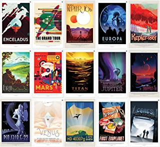 "NASA JPL Space Travel Posters (ALL 15 POSTERS) 11"" x 17"" - Guaranteed Certified PosterOffice Prints with Holographic Numbering for Authenticity. Each poster is 11""x17"" in size."