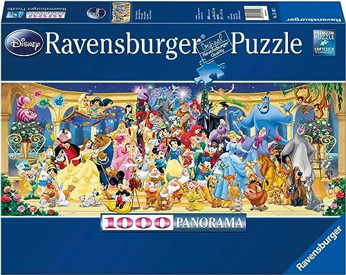 Ravensburger - Puzzle Adulte - Puzzle 1000 p - Photo de groupe Disney (Panorama) - Adultes et enfants dès 14 ans - Pu...