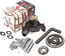Fits 96-02 Cadillac Chevrolet GMC 5.7 OHV 16V Vortec VIN R, K Timing Chain Kit Oil Pump GMB Water Pump