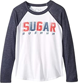 Super Soft Sugar Rush Long Sleeve Raglan Tee (Little Kids/Big Kids)