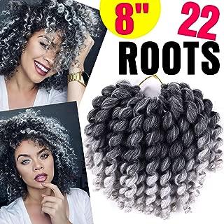 Premium JUMPY Wand Curl Crochet Braids Hair Extension (1 Pack) Jamaican Bounce Synthetic Crochet Braiding Hair For Women (T 1B/Grey)