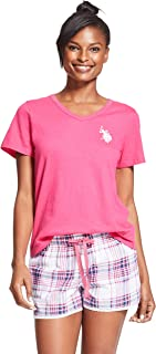 U.S. Polo Assn. Womens Short Sleeve Shirt and Pajama...