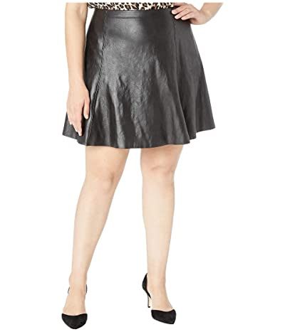 Spanx Faux Leather Skater Skirt (Very Black) Women