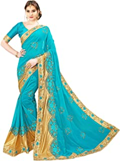 Glory Sarees Women's Georgette Saree With Blouse Piece