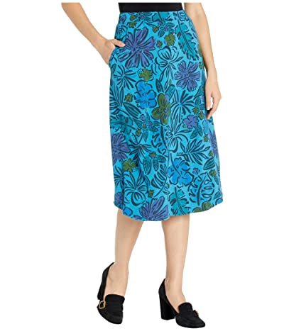 Fresh Produce Sketched Flora Long Avery Skirt (Seaport Blue) Women