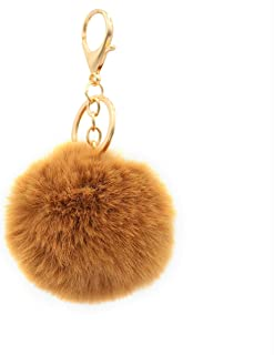 Real Sic Pom Pom Keychain - Faux Fur For Girls Women Backpack Purse Gift