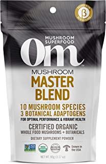Om Organic Mushroom Nutrition Superfood Powder, Master Blend, 3.17 Ounce (30 Day Supply), Whole Food Mushrooms & Botanical...