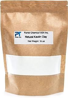 100% Natural,Pure, White Kaolin Cosmetic Grade/Personal Care Kaolin Clay Fine Powder Made in USA (16oz)
