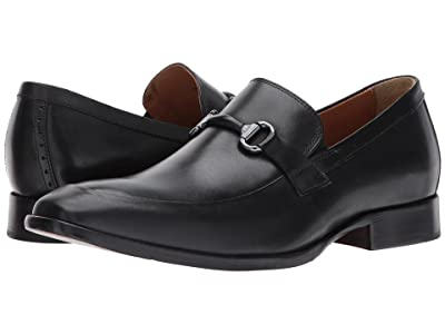 Johnston & Murphy McClain Dress Bit Slip-On (Black Full Grain) Men