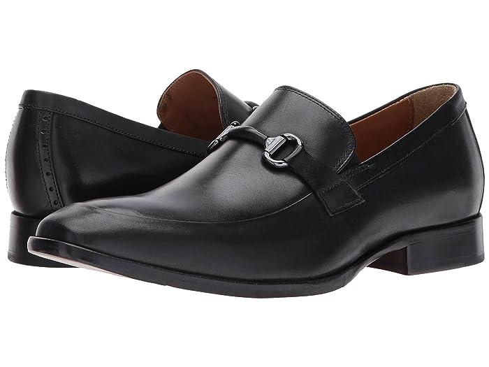 Johnston and Murphy  McClain Dress Bit Slip-On (Black Full Grain) Mens Slip-on Dress Shoes