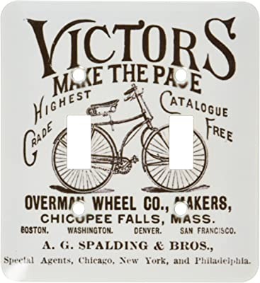 3dRose lsp/_204036/_1 Print of Vintage Bicycle Ad With Words Single Toggle Switch