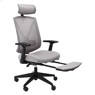 Amazon Basics Ergonomic High-Back Reclining Mesh Office Chair with Adjustable Lumbar Support, Gray