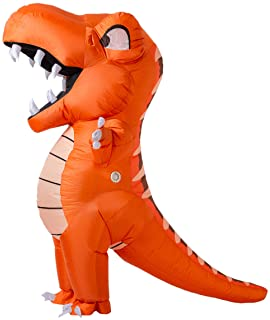 Spooktacular Creations Inflatable Costume Dinosaur Full Body Dinosaur Air Blow-up Deluxe Halloween Costume - Adult Size