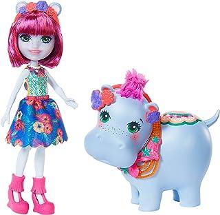 Enchantimals- Vamos al Lago Muñeca Hedda Hippo con mascota