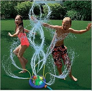 Wet N' Wild Tidal Storm Hydro Swirl Spinning Sprinkler with Light Show