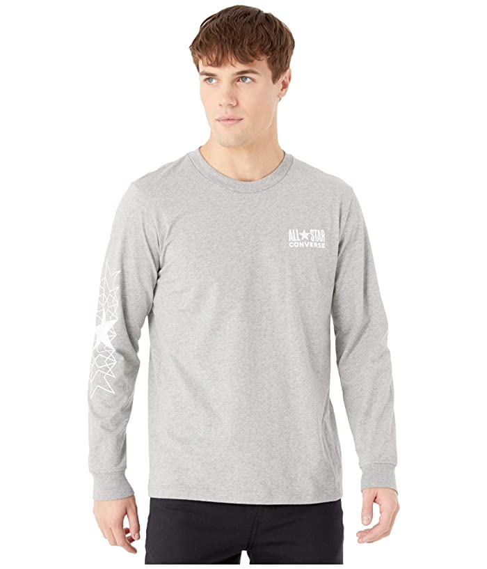 Converse  All Star Long Sleeve Tee (Vintage Grey Heather) Mens T Shirt