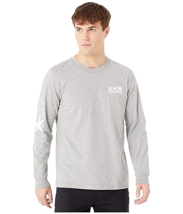 Converse  All Star Long Sleeve Tee (Vintage Grey Heather) Mens T Shirt