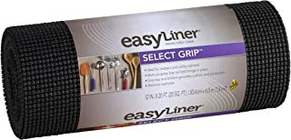 Duck Brand Select Grip EasyLiner Shelf and Drawer Liner, 12-Inch x 20-Feet, Non-Adhesive, Black, 1359572